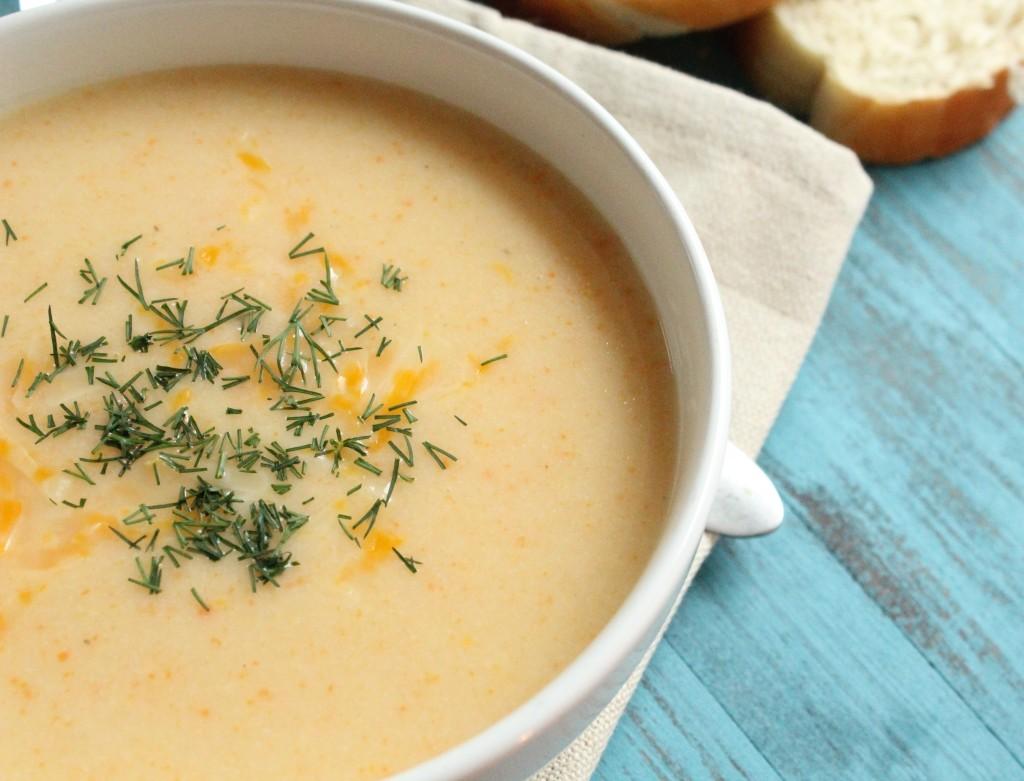 Крем суп из сыра